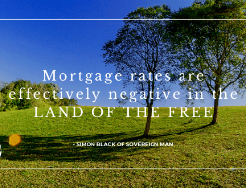 Mortgage rates are effectively negative in the Land of the Free